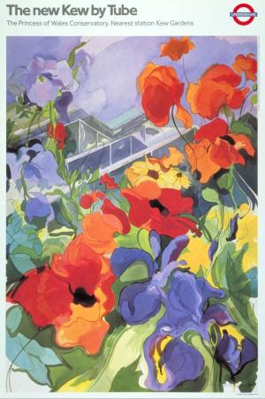 London Underground Poster The New Kew by Tube, Princess of Wales Conservatory by Jenny Tuffs