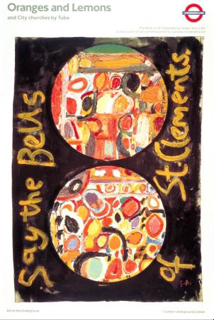 London Underground Poster Oranges and Lemons by Gillian Ayres RA