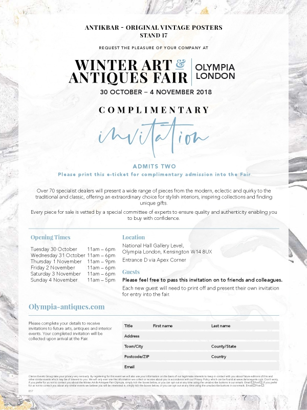 Visit AntikBar at Stand 17 at the Winter Olympia Fair 2018