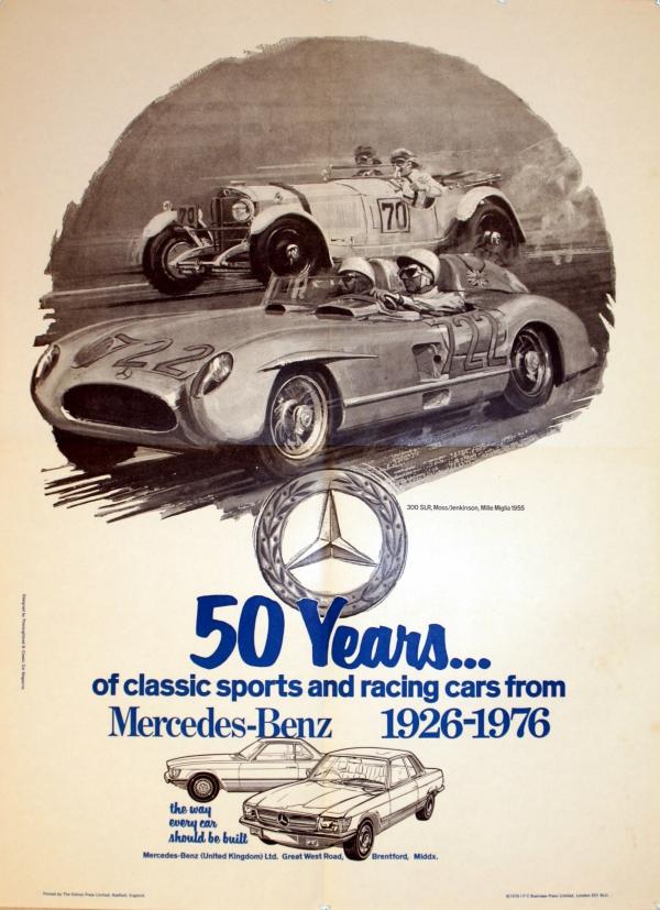 Original vintage posters advertising posters for Vintage mercedes benz posters