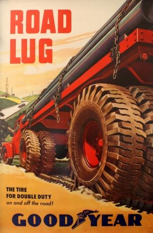 original vintage posters advertising posters road lug good year tyres antikbar