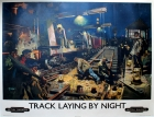 Track Laying By Night Cuneo British Railways