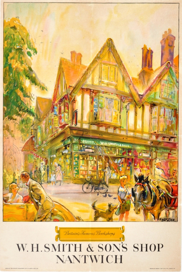 WH Smith Famous Bookshops Nantwich GBP45000 Original Vintage Advertising Poster