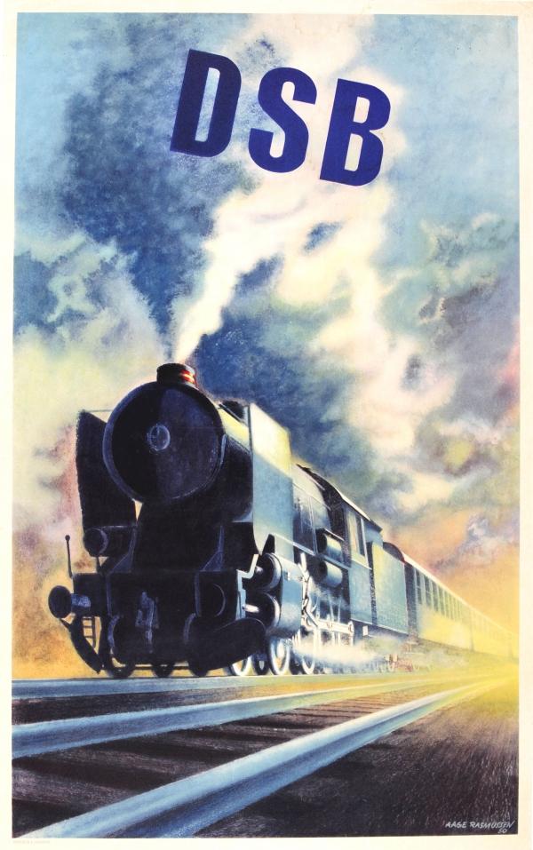 Original Vintage Poste... Vintage Train Poster