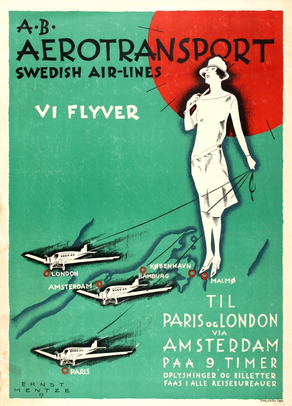 Aerotransport Swedish Airlines Art Deco
