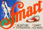 Smart Tennis Shoes Calzature Italy Art Deco