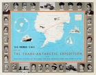 The Times Map Of The Trans-Antarctic Expedition Antarctica South Pole Vivian Fuchs Edmund Hillary