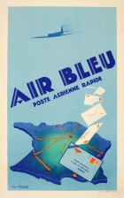 Air Bleu Post Office Art Deco Airplane