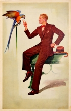 Schloss Bros & Co Fashion Man With Parrot