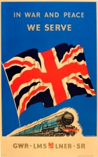 WWII In War and Peace We Serve UK Railways GWR LMS LNER SR