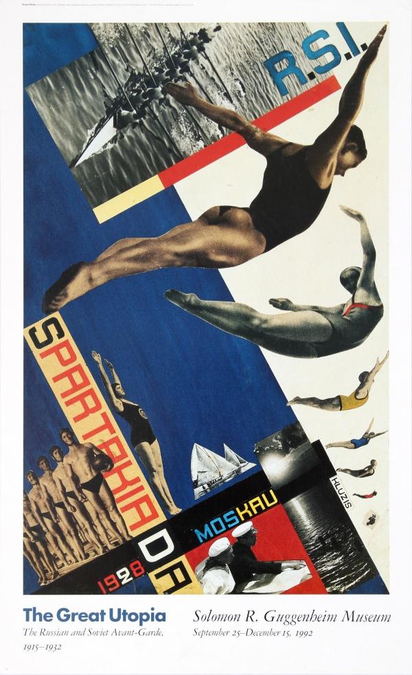 Soviet Constructivism SPARTAKIADA Gustav Klutsis Russian Propaganda Poster