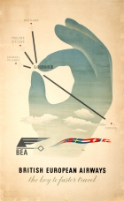British European Airways BEA Midcentury Hans Schleger