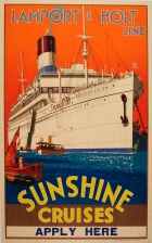 Lamport and Holt Line Sunshine Cruises