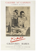 Picasso Rare Engravings Exhibition The Frugal Meal Galerie 65 Cannes