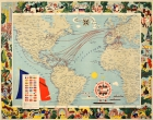 Compagnie Generale Transatlantique CGT Illustrated World Map