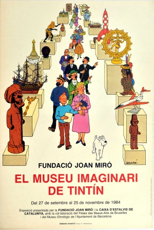 Original Vintage Posters Advertising Posters Tintin Imaginary Museum Joan Miro Foundation Antikbar