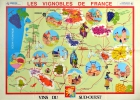 Vineyards Of South West France Wine Map