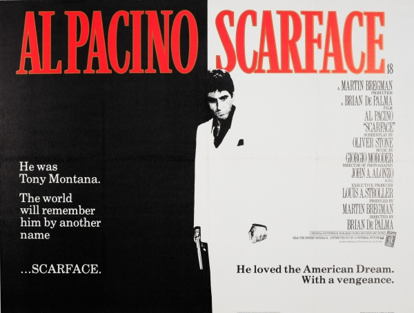 Original Vintage Posters -> Cinema Posters -> Scarface Al Pacino - AntikBar