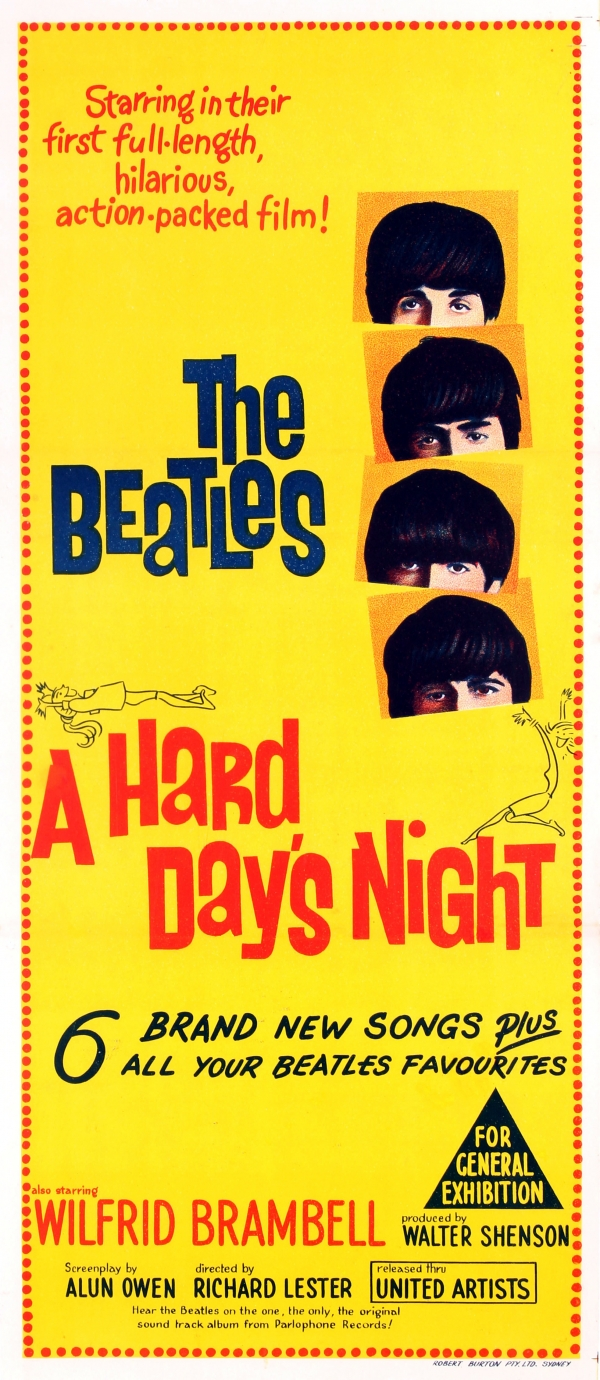 Original Vintage Posters Cinema The Beatles A Hard Days Night
