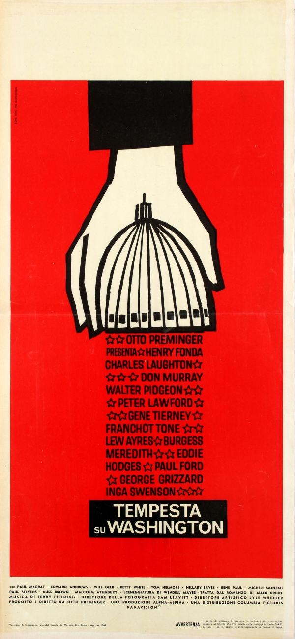Advise & Consent Saul Bass Italy