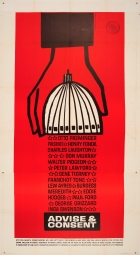 Advise and Consent Saul Bass 3 sheet