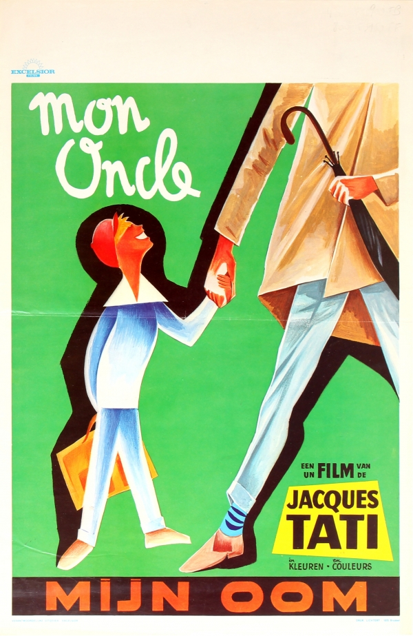 original vintage posters cinema posters mon oncle jacques tati antikbar. Black Bedroom Furniture Sets. Home Design Ideas