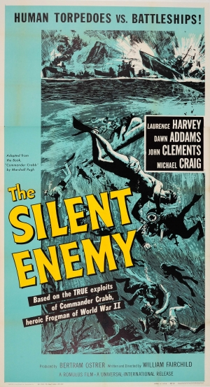 Humorous 1958 The Silent Enemy Laurence Harvey Cover Japan Vintage Magazine Entertainment Memorabilia Other Movie Memorabilia