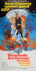 James Bond Diamonds Are Forever Three Sheet