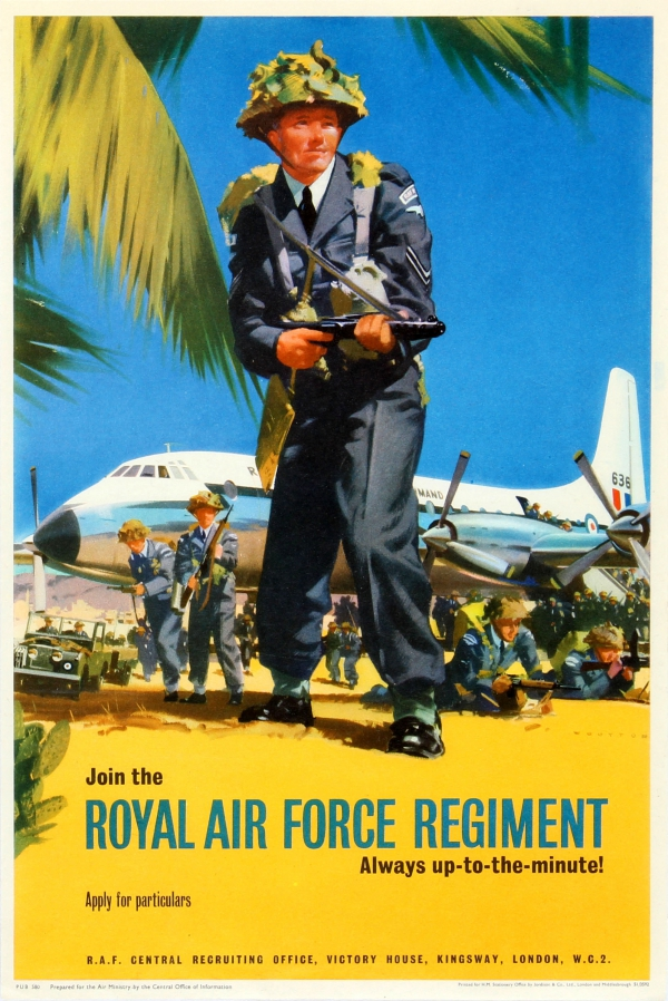Original Vintage Posters - U0026gt  Propaganda Posters - U0026gt  Join The Royal Air Force Regiment