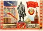 Soviet People Lenin Kremlin Space USSR