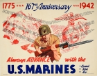 US Marines 167th Anniversary 1775-1942 WWII