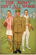 Army Recruitment WWI Sports Cricket Football