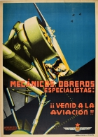 Mechanics Specialist Workers Aviation Mecanicos Obreros Especialistas Civil War