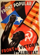 Front Popular Victory Freedom Spanish Civil War