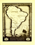 South America Map Indian Culture Principal Tribes