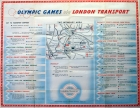 LT 1948 London Olympics Underground Map