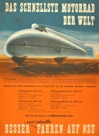NSU Motorcycle Speed Record 1951 Delphin I