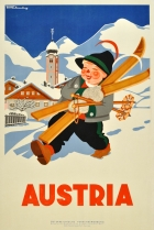 Austria Boy With Skis