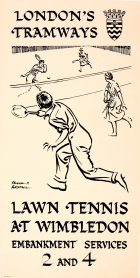 LT London Tramways Tennis Wimbledon Restall