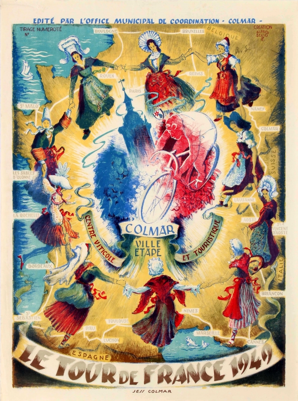 Original vintage posters sport posters tour de for Blue piscine colmar