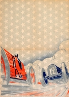 Car Race Art Deco Bugatti 35B