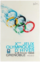 Sport Poster Winter Olympics 1968 Grenoble France
