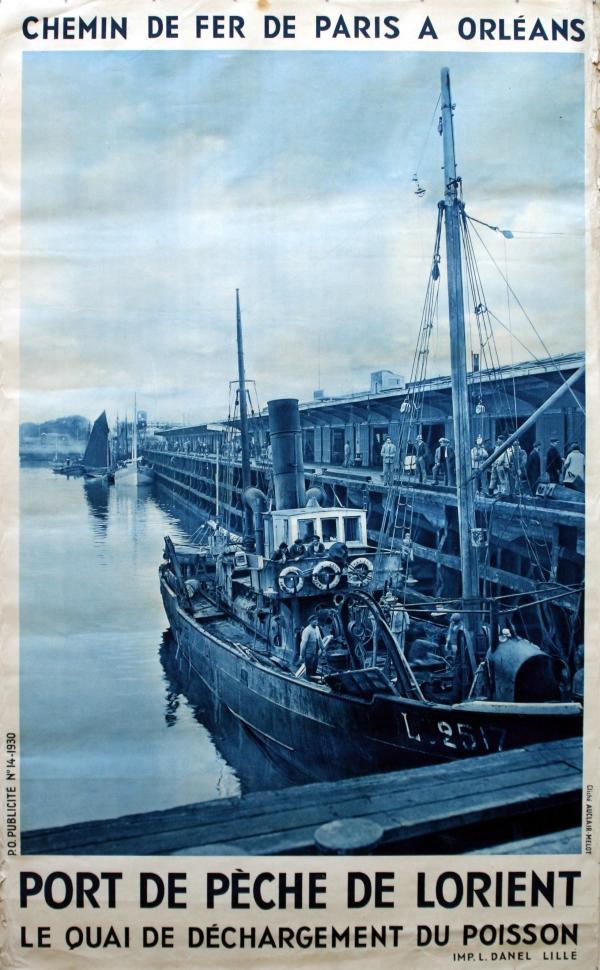 original vintage posters gt travel posters gt port de peche de l orient antikbar