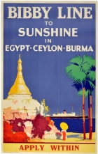 To Egypt, Ceylon,  Burma by Bibby Line