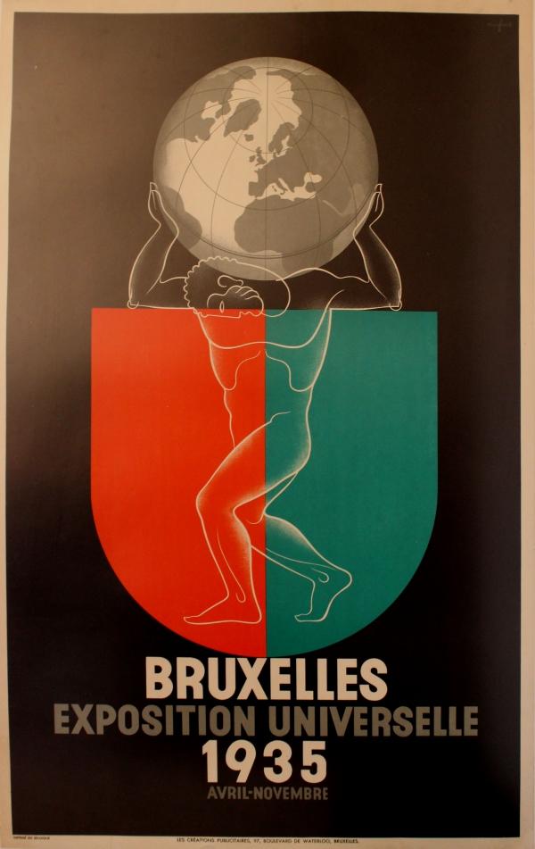 Original vintage posters travel posters brussels - Deco vintage belgique ...
