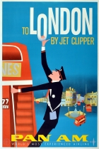 London by Jet Clipper Pan Am