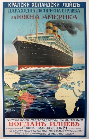 Original Vintage Posters Gt Travel Posters Gt South America By Royal Holland Lloyd Cruise Line