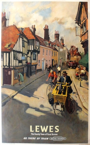 Original Vintage Posters gt Travel Posters gt Lewes Sussex