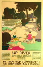 LT Up River London Transport Art Deco