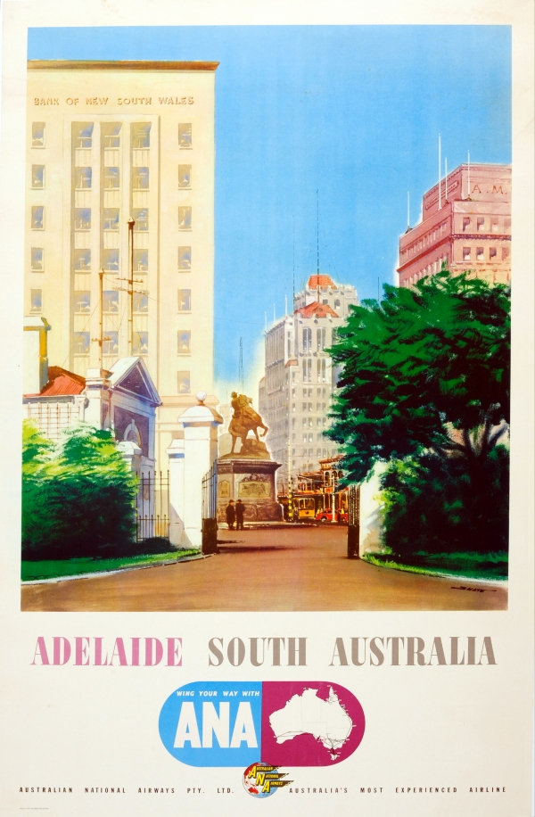 Original Vintage Posters -> Travel Posters -> Adelaide South